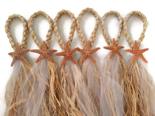 Sugar Starfish Wedding Pew Bows
