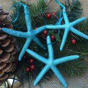 Teal Starfish Ornaments1
