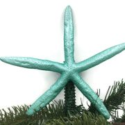 Metallic Turquoise Finger Starfish Tree Topper 2