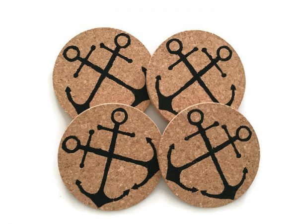 double anchor coaster set