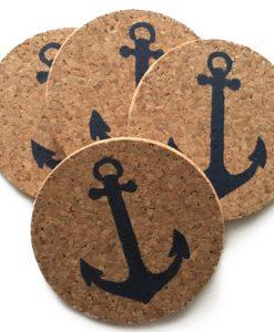 Nautical Cork Anchor Coasters