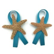 Sugar Starfish Boutonniere with Ribbon 2
