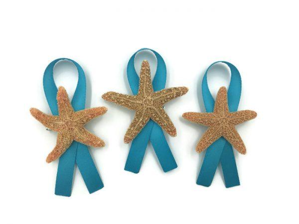 Sugar Starfish Boutonniere with Ribbon 3