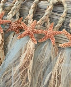Sugar Starfish Braided Tulle Wedding Pew Bows