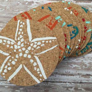 Colorful Starfish Coasters
