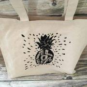 Pineapple Aloha Tote Bag