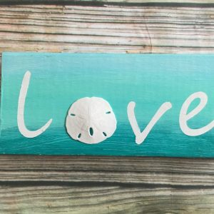 Love Sign with Sand Dollar