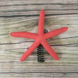 Coral Color Starfish Christmas Tree Topper