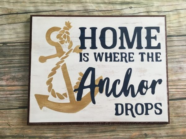 Nautical Anchor Home Sign 2