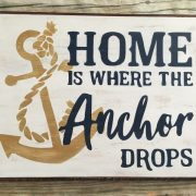 Nautical home wood sign