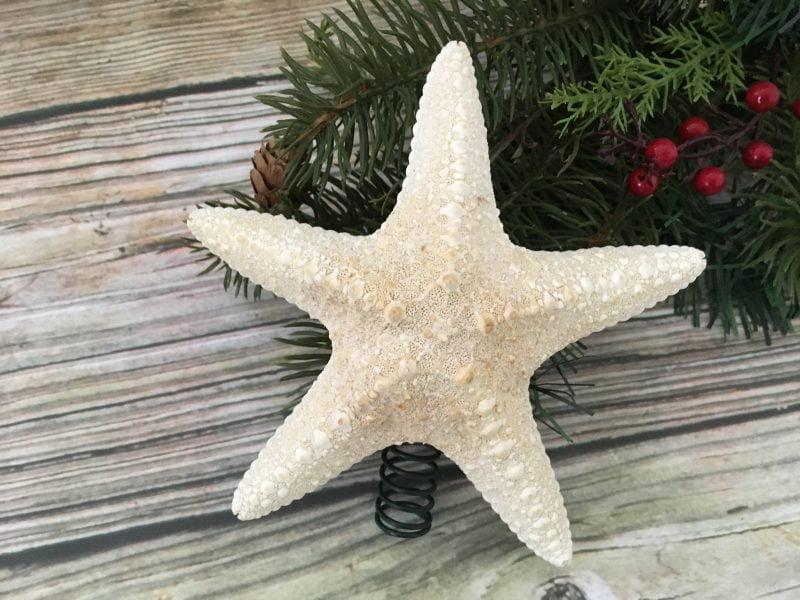 Small Tropical White Caribbean Starfish Christmas Tree