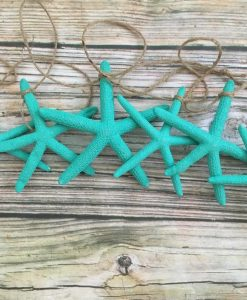Bright Turquoise Starfish Garland 2