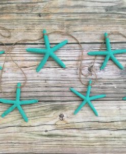 Bright Turquoise Starfish Garland 3