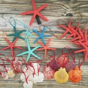 Coral Christmas Ornament Package