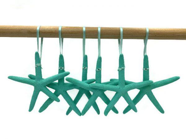 Bright Turquoise Starfish Ornaments 1