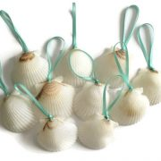white shell ornaments 10