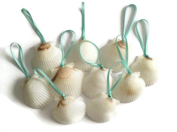 white shell ornaments 10