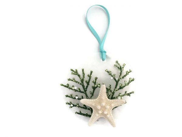 Capiz and Starfish Ornament