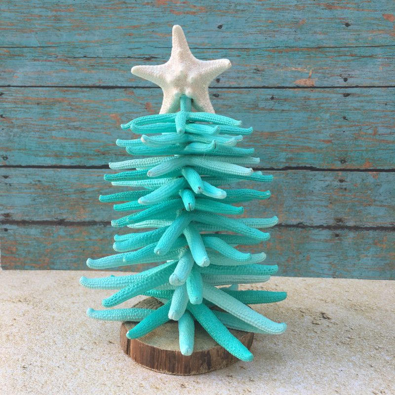 Hawaiian Christmas Tree Topper: Sugar Starfish Tree Topper