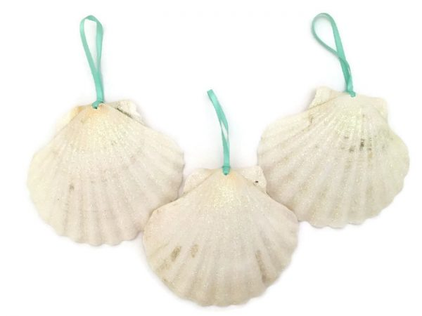 White seashell ornaments 3