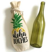 Aloha Beaches Wine Bag