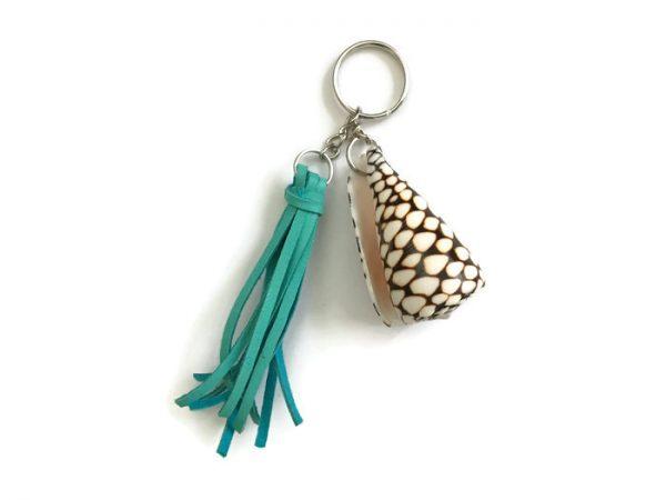 cone shell tassel key ring 8