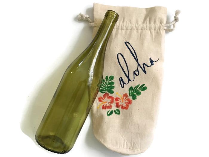 hawaiian aloha wine gift bag (2)