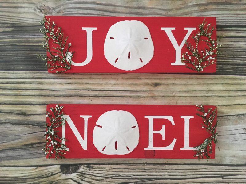 Joy and Noel Holiday Sign Set | Sea 2 Land Designs