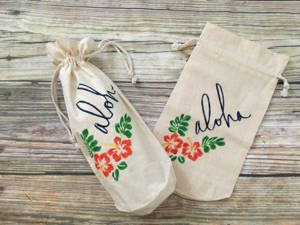 Hawaiian Aloha Wine Gift Bag ...