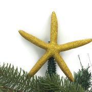 gold starfish christmas tree topper