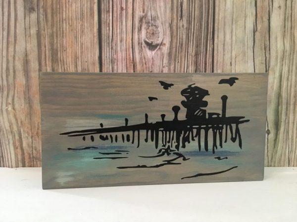 Rustic Ocean Pier Sign
