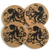 octopus coaster set of 4