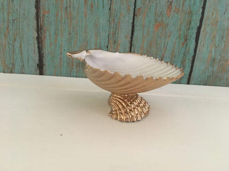 Mini Gold Seashell Ring Dish