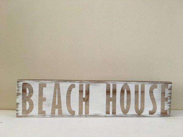 Beach house White rustic sign 1