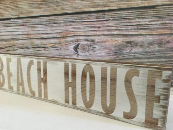 Beach house White rustic sign 5