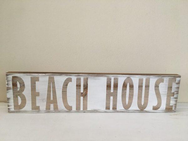 Beach house White rustic sign