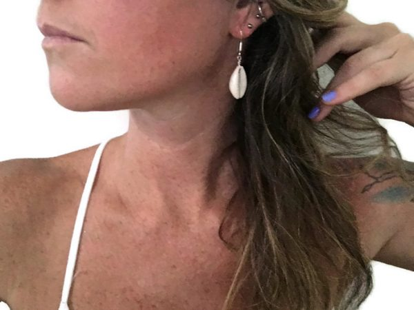 Cowrie dangle earrings 5