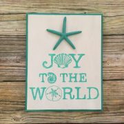 Joy to the world seashell beach Christmas Sign 4