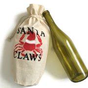 Santa Claws wine gift bag