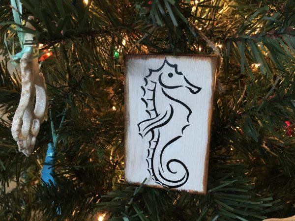 Sea horse mini sign