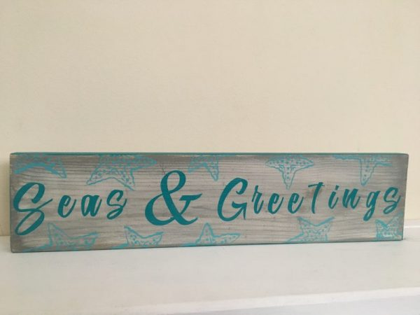 Seas & Greetings Christmas Sign 1
