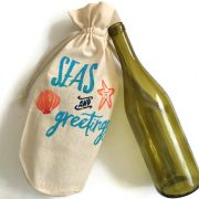 Seas and Greetings Wine Gift Bag