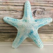 Tropical Whte and Turquoise Starfish wall hanging 5