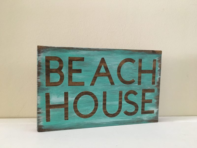 Tropical Rustic Beach House Sign