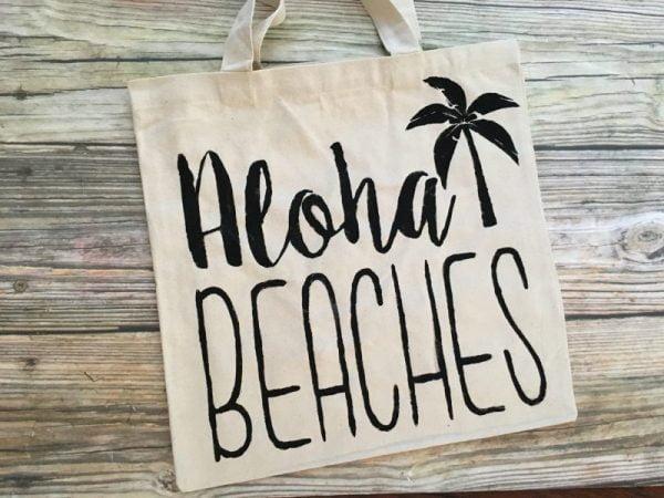 aloha beaches canvas tote bag 1