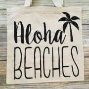 aloha beaches canvas tote bag 2