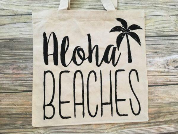aloha beaches canvas tote bag 2