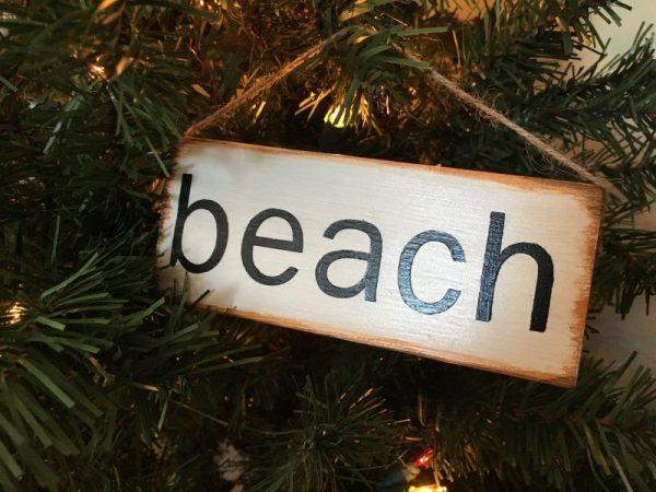 mini beach sign
