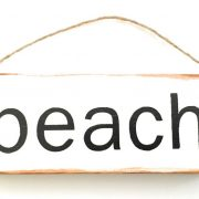 mini beach sign ornament
