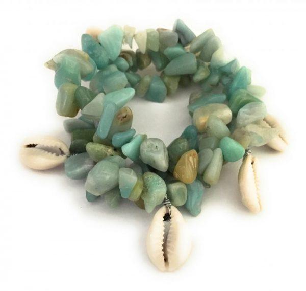 Beaded Cowrie Seashell Bracelet 3